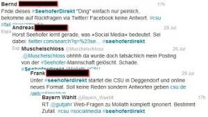 Situationsbewältigung auf twitter zu #seehoferdirekt